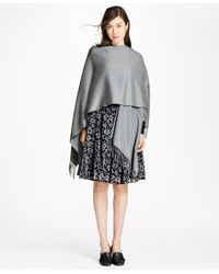 Brooks Brothers - Gray Cashmere Ruana - Lyst