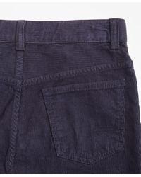 Brooks Brothers Blue Five-pocket Corduroys for men