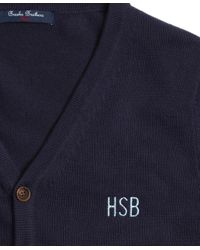 Brooks Brothers Blue Cardigan for men