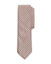 Brooks Brothers - Blue Mini Check Tie for Men - Lyst