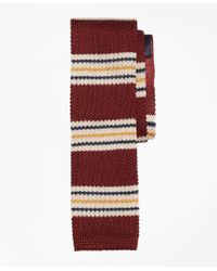 Brooks Brothers | Red Triple Stripe Knit Tie for Men | Lyst