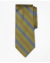 Brooks Brothers | Green Herringbone Double Stripe Tie for Men | Lyst