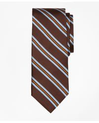 Brooks Brothers | Brown Houndstooth Stripe Print Tie for Men | Lyst