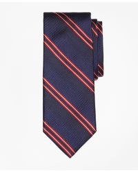 Brooks Brothers | Blue Natte Double Stripe Tie for Men | Lyst