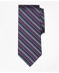 Brooks Brothers | Purple Sidewheeler Herringbone Stripe Tie for Men | Lyst
