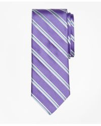 Brooks Brothers | Purple Alternating Rope Stripe Tie for Men | Lyst