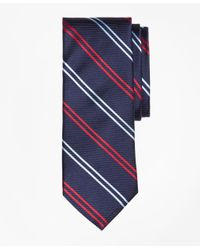 Brooks Brothers | Blue Twin Stripe Tie for Men | Lyst