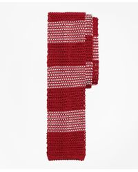 Brooks Brothers | Red Knit Stripe Tie for Men | Lyst