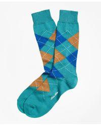 Brooks Brothers | Blue Argyle Crew Socks for Men | Lyst