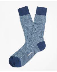 Brooks Brothers | Blue Herringbone Crew Socks for Men | Lyst