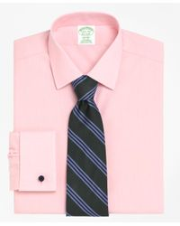 Brooks Brothers | Pink Non-iron Milano Fit Spread Collar French Cuff Dress Shirt for Men | Lyst