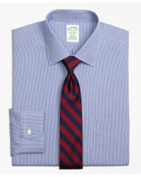 Brooks Brothers   Blue Non-iron Madison Fit Houndstooth Dress Shirt for Men   Lyst