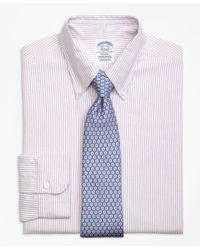Brooks Brothers   Purple Regent Fit Original Polo® Button-down Oxford Bengal Stripe Dress Shirt for Men   Lyst