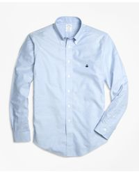 Brooks Brothers | Blue Non-iron Regent Fit Oxford Sport Shirt for Men | Lyst