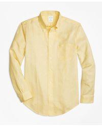 Brooks Brothers | Yellow Milano Fit Irish Linen Sport Shirt for Men | Lyst