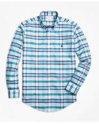 Brooks Brothers | Blue Non-iron Madison Fit Tartan Sport Shirt for Men | Lyst