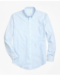 Brooks Brothers | Blue Non-iron Regent Fit Border Stripe Sport Shirt for Men | Lyst