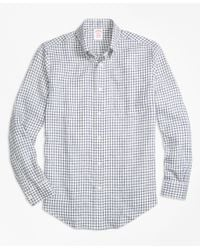 Brooks Brothers | Blue Gingham Cotton Shirt for Men | Lyst