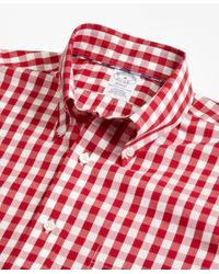 Brooks Brothers | Pink Non-iron Madison Fit Gingham Sport Shirt for Men | Lyst