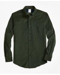 Brooks Brothers | Green Regent Fit Corduroy Sport Shirt for Men | Lyst