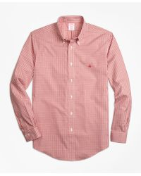 Brooks Brothers | Red Non-iron Madison Fit Gingham Sport Shirt for Men | Lyst