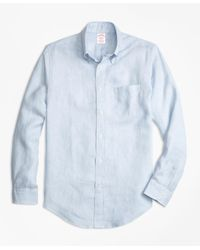 Brooks Brothers | Blue Madison Fit Irish Linen Sport Shirt for Men | Lyst
