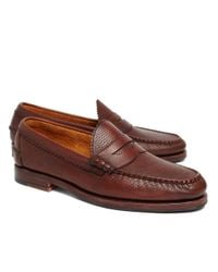 Brooks Brothers | Brown Allen Edmonds Beef Roll Pebble Penny Loafers for Men | Lyst