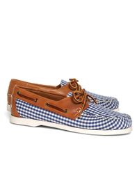 Brooks Brothers   Blue Gingham Boat Shoes for Men   Lyst