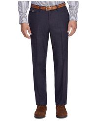 Brooks Brothers - Gray Regent Fit Wool Trousers for Men - Lyst