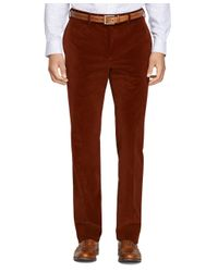 Brooks Brothers | Brown Regent Fit Stretch Corduroy Trousers for Men | Lyst