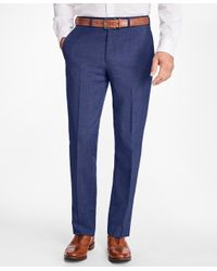 Brooks Brothers | Blue Regent Fit Wool And Mohair Trousers for Men | Lyst