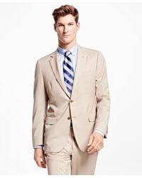 Brooks Brothers | Natural Fitzgerald Fit Wool Poplin Suit for Men | Lyst
