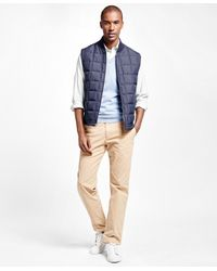 Brooks Brothers | Blue Reversible Quilted Vest for Men | Lyst
