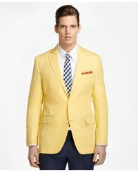 Brooks Brothers | Yellow Fitzgerald Fit Cotton And Linen Sport Coat for Men | Lyst
