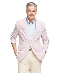 Brooks Brothers - Red Madison Fit Seersucker Sport Coat for Men - Lyst