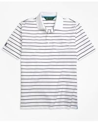 Brooks Brothers | White St. Andrews Links Stripe Golf Polo Shirt for Men | Lyst