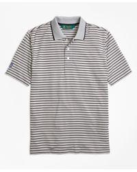 Brooks Brothers   Gray St Andrews Links Bar Stripe Golf Polo Shirt for Men   Lyst