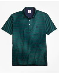 Brooks Brothers - Green Original Fit Even Stripe Performance Polo Shirt for Men - Lyst