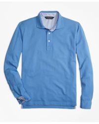 Brooks Brothers | Blue Vintage-wash Long-sleeve Polo Shirt for Men | Lyst
