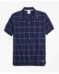 Brooks Brothers   Blue Slim Fit Windowpane Polo Shirt for Men   Lyst
