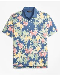 Brooks Brothers | Blue Slim Fit Interlock Tropical Print Polo Shirt for Men | Lyst