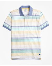Brooks Brothers | Blue Original Fit Supima® Cotton Pique Multi-stripe Polo Shirt for Men | Lyst