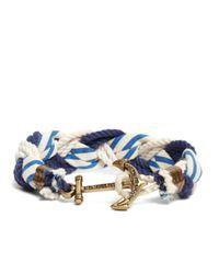 Brooks Brothers   Blue Kiel James Patrick Stripe Braided Bracelet for Men   Lyst