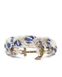 Brooks Brothers | Blue Kiel James Patrick Seersucker Stripe Braided Bracelet for Men | Lyst