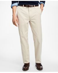 Brooks Brothers | Multicolor Clark Fit Brushed Twill Chinos for Men | Lyst