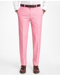 Brooks Brothers | Pink Non-iron Milano Fit Supima® Cotton Oxford Chinos for Men | Lyst