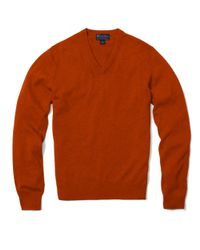Brooks Brothers | Multicolor Cashmere V-neck Sweater for Men | Lyst