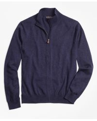 Brooks Brothers | Blue Supima® Cotton Full-zip Cardigan for Men | Lyst