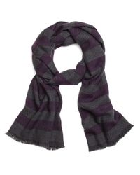 Brooks Brothers - Purple Herringbone Stripe Scarf for Men - Lyst