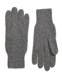 Brooks Brothers | Gray Ribbed Cashmere Gloves for Men | Lyst